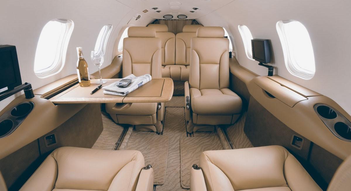 Inside of Learjet 31