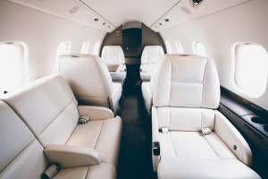 learjet 60XR interior private jet charter