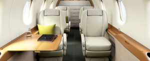 Pilatus PC-12NG interior private jet charter