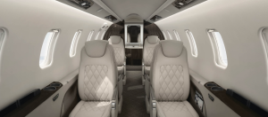 Learjet 75 interior private jet charter