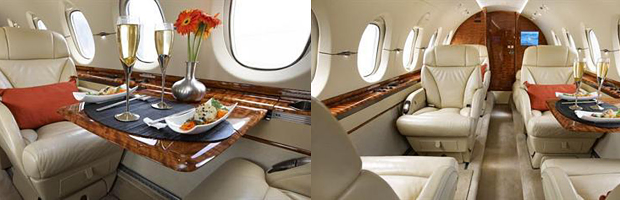 hawker 850XP interior