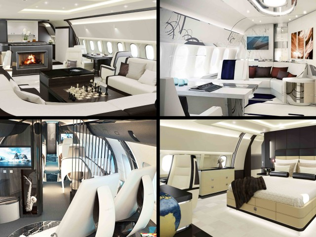 Robb Report - Custom Interior for Private Jets