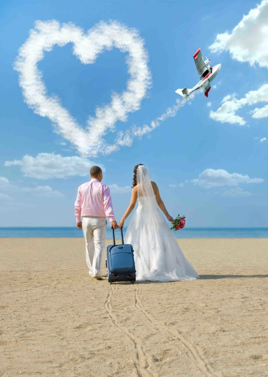 Charter a Private Jet for Your Wedding or Honeymoon